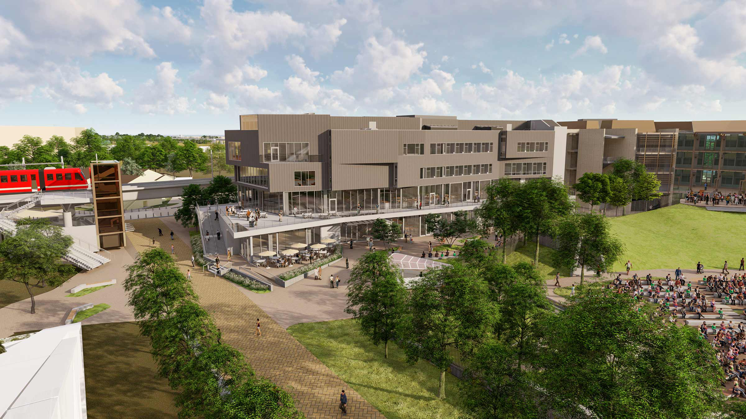 artist rendering of new uc san diego design and innovation building